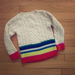 Peek Size 4/5 cable knit sweater